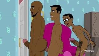Gay male tube black cock cartoon