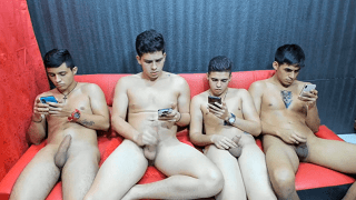 Horny iPhone gay boy orgy