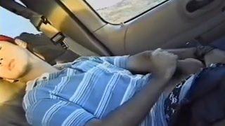 Cute Teen boy age 19 wanks in car