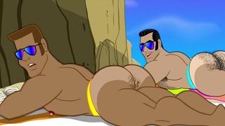 Gay xxx boy nude beach porn cartoon